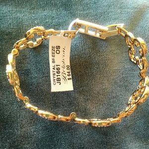 Brighton Crystal Breeze bracelet gold tone